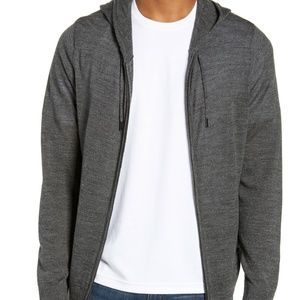 Nordstrom Men's Shop Zip Knit Hoodie Merino Blend